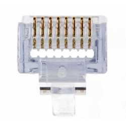 CAT6 EZ-RJ45 Modular Plugs 50-pack 50u gold
